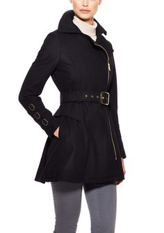 On ideel: BEBE Wool Fit-and-Flare Coat