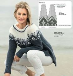 Designer Knitting Patterns, Lace Knitting Patterns, Knitting Stiches, Knitting Socks, Knitting Designs, Nordic Pullover, Nordic Sweater, Icelandic Sweaters, Christmas Crochet Patterns
