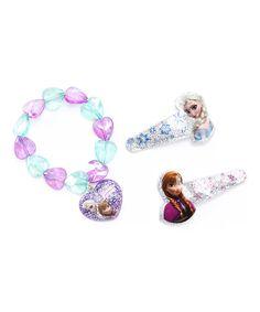 Pink & Blue Frozen Bracelet & Clip Set by Frozen #zulily #zulilyfinds