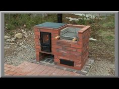 Build Your Own Backyard Concrete Block Grill: easy Outdoor Barbeque, Barbecue Grill, Pizza Oven Fireplace, Survival Stove, Brick Bbq, Tiny House Cabin, Rocket Stoves, Outdoor Furniture Sets, Outdoor Decor