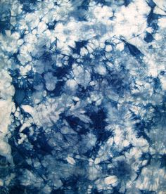 Indigo Hand Dyed Shibori Fat Quarter by CapeCodShibori on Etsy