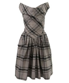 Vivienne Westwood tartan dress at Liberty London. Love tartan, I jus tthink that if you're going to wear a nice little tartan dress it shoudn't cost £355.