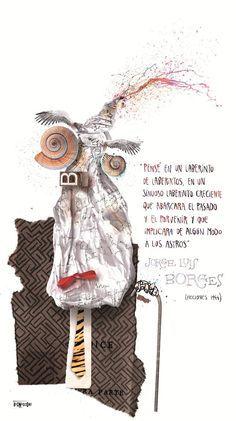 Resultado de imagen para ilustrador argentino pablo bernasconi borges