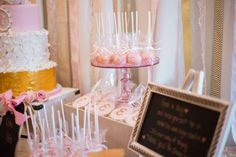 Pink & Gold Christening Baptism Party Ideas   Photo 1 of 80 Christening Photos, Baby Dedication, Baptism Party, Pink And Gold, Party Ideas, Table Decorations, Amp, Christening, Christening Party