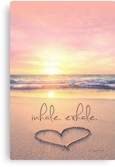 inhale. exhale. Canvas Print