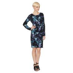 RJR.John Rocha Designer navy digital floral dress- at Debenhams.com