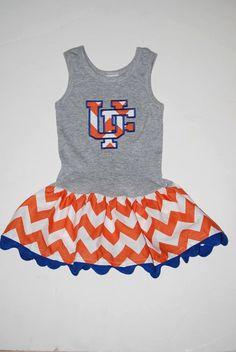 TEAM Spirit Orange Chevron Tank Dress by sarahmlboyd on Etsy, $42.00 - definitely not this color combo, however...