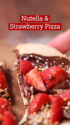 Fun Baking Recipes, Sweet Recipes, Dessert Recipes, Cooking Recipes, Strawberry Pizza, Dessert Pizza, Yummy Food, Delicious Desserts, Diy Food