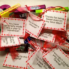 Candy Notes of Appreciation
