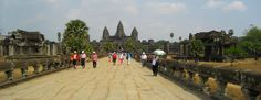 The beautiful temples at the historic Angkor Wat in Cambodia