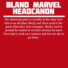 The shawarma place is actually in the same location as an old diner Bucky and Steve used to frequent when they were teenagers. Bucky used to pretend he wanted to eat there because he knew Steve had a crush on a waitress and was too shy to go alone.
