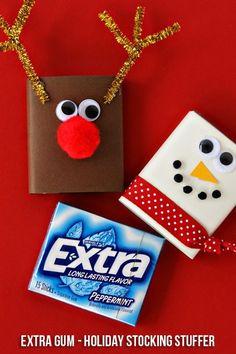 Extra Gum Reindeer & Snowman Stocking Stuffers #sponsored #GiveExtraGum and…