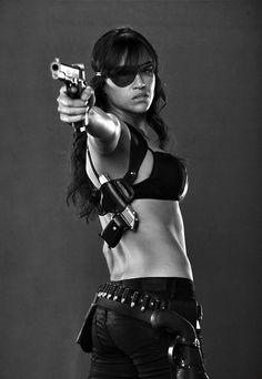 Michelle Rodriguez. Come on who else can pull of an eye patch?