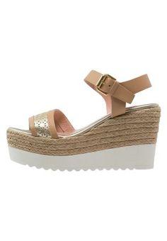 Sandales à talons hauts - naturale/ platinum/camel