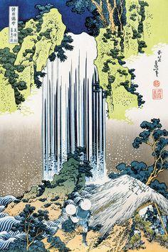 Katsushika Hokusai - Waterfalls of the Provinces-Minokoku Yourou No Taki