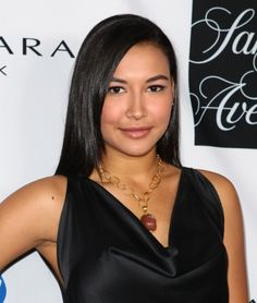 Naya Riveras long straight hairstyle