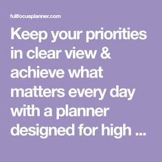 Keep your priorities in clear view & achieve what matters every day with a planner designed for high achievers seeking an intentional, fulfilling lifestyle. Goal Setting Template, Goals Template, Life Organization, Organizing Ideas, Bullet Journal Writing, Office Stationery, Self Improvement Tips, New Pins, Priorities