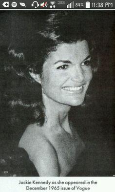 Jacqueline Kennedy Vogue Magazine ! 1965