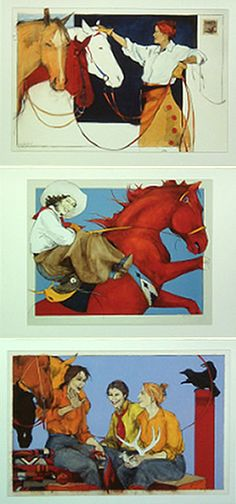 Gifts from Donna Howell-Sickles- cowgirl art