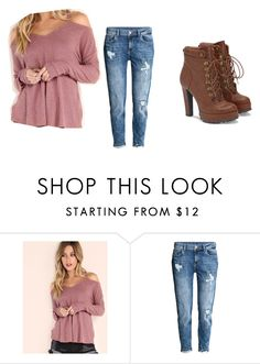 """Not be"" by pinkdisney240 ❤ liked on Polyvore featuring H&M and JustFab"