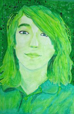Middle School monochromatic self portraits