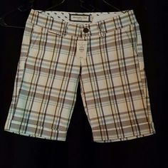 Plaid shorts Yellow brown blue white plaid shorts Abercrombie & Fitch Shorts