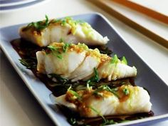 Steamed Halibut with Fresh Ginger. Gimme
