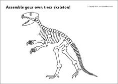 This Dinosaur Bones craft is easy to make with our printable T-Rex ...