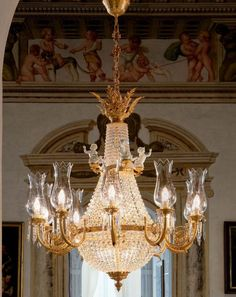 10 Light 24 Carat Gold Chandelier, £14,649.44. Find out more at: http://www.italian-lighting-centre.co.uk/empire-style-basket/light-carat-gold-chandelier-p-4952.html