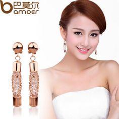金丝网包裹水晶圆柱条形耳环 女 韩国 时尚耳钉  饰品批发