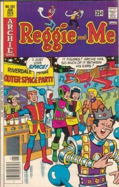 A cover gallery for the comic book Reggie and Me Old Comic Books, Vintage Comic Books, Vintage Comics, Comic Book Covers, Archie Comics Riverdale, Archie Jughead, Dan Decarlo, Archie And Betty, Archie Andrews