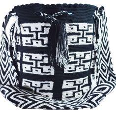 Authentic WAYUU Large Mochila Bag 100% Colombian Boho Hobo Finest Handmade 481 ⋆ Wayuu Mochila Bags