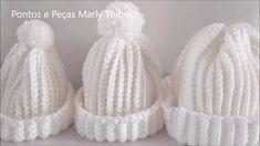Crochet Beanie Hat, Crochet Cap, Crochet Cross, Crochet Home, Beanie Hats, Crochet Edging Patterns, Crochet Stitches, Pom Pon, Baby Hats