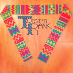 Cool beaded Aztec random pattern headband - Be sure to check out Twisted Rank Beadwork on Facebook!
