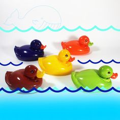 Beautiful glass 'rubber' duckies!
