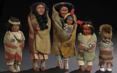 vintage skookum dolls Native American Baskets, Native American Dolls, Native American Artifacts, Native American Indians, Cigar Store Indian, Toys In The Attic, Indian Dolls, Nativity Crafts, Bear Doll