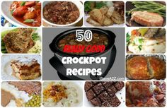50 Easy Crockpot Recipes that you need to know about!  SAVE THIS pin for later!  |  iSaveA2Z.com