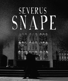 Snape. Even if you don't like him, you've gotta admit, he's pretty awesome.