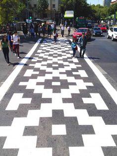 Peter Gibson || Extra Creative Bike Lanes || http://roadsworth.com/home/