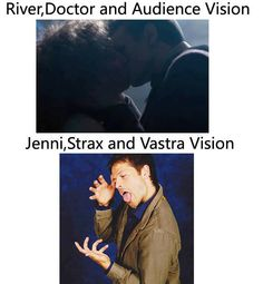 """Misha Collins demonstrates what Vastra, Jenny and Strax saw in """"Name of the Doctor""""  (via Doctor Who Hub on FB)"""