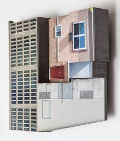 """Krista Svalbonas - Migrator 2, UV print on dibond and wood - """"Migrator"""" turns an analytical gaze on the architecture of my past and present while offering a personal reflection on the nature of home.   Ideas of home and dislocation have always be…"""