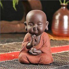 Handpainted Buddha Monk Tea Pet Figurine