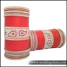 Beautiful Bridal Chura.    Website for purchase : www.weddingchura.com  Whatsapp For purchase : +91-9416307694