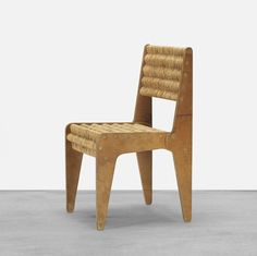 Marcel Breuer; Birch Plywood and Jute Prototype Chair for Bryn Mawr, 1938.
