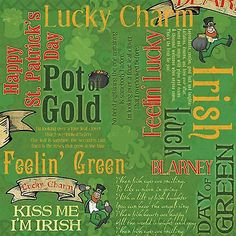 Karen Foster KISS ME I'M IRISH COLLAGE 12x12 Scrapbooking (2) Papers