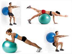 Swiss ball exercises :)
