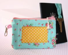 Zippered ID Pouch | A Spoonful of Sugar want to try this for a disney lanyard