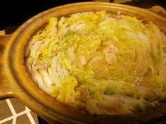 豚バラ薄切り肉と白菜のミルフィーユ鍋☆白菜・豚バラ薄切り肉・だしの素