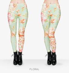 Pastel Flowers Printed Leggings
