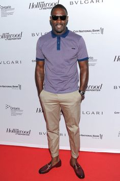 Idris Elba In Gucci - The Hollywood Reporter's Honoring Cocktail Reception